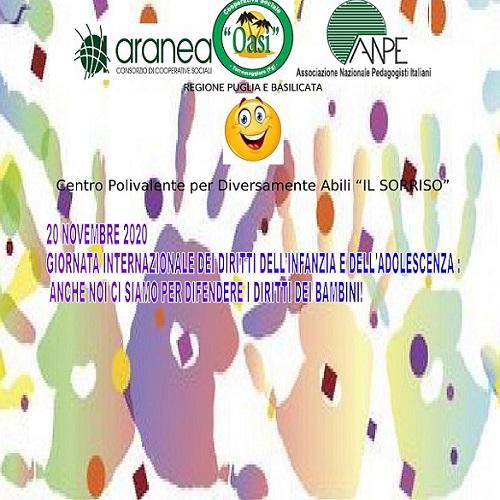 """La giornata internazionale dei diritti dell'infanzia e dell'adolescenza al Polivalente """"Il sorriso"""""""