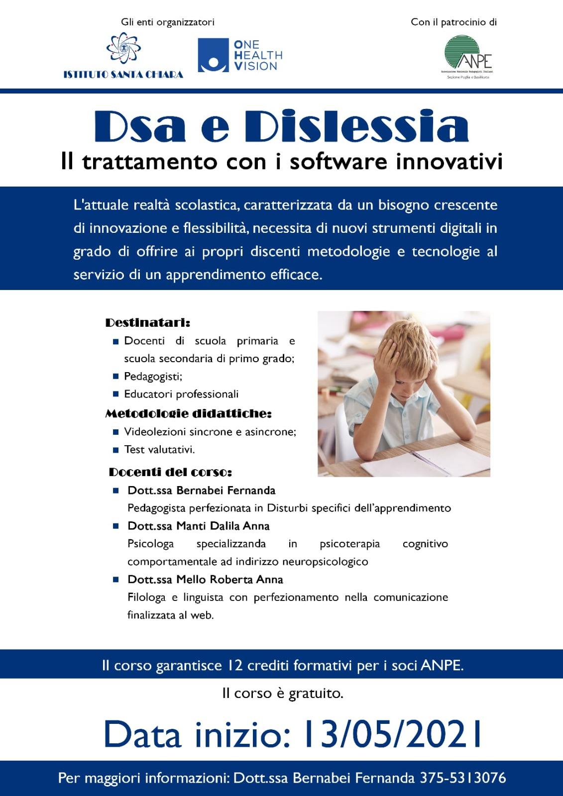 DSA e dislessia. Il trattamento con i software riabilitativi