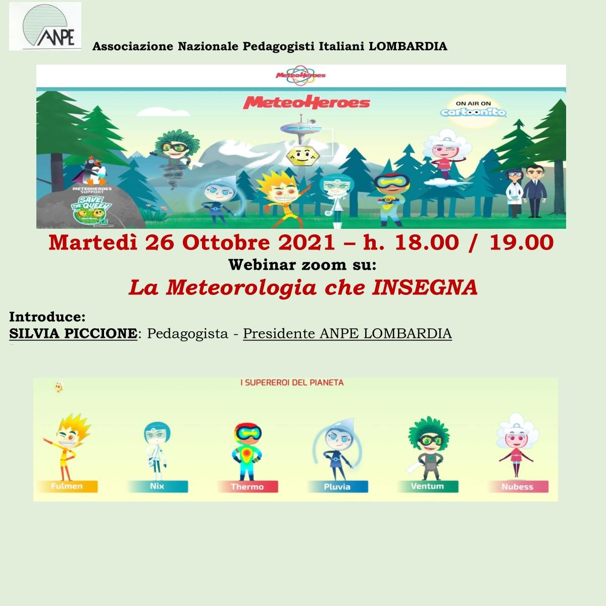 Anpe Lombardia – Webinar. La Meteorologia che INSEGNA.